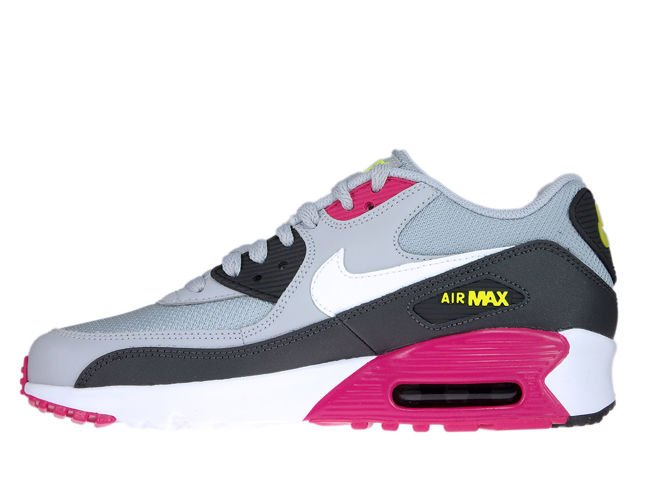 Details about Nike Air Max 90 833418 027 Wolf GreyWhite Rush Pink Volt