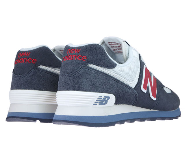 designer fashion 18da3 d43bc Details about New Balance ML574ESC Navy with Red