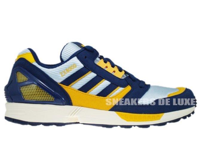 3ddca543d 147011 Adidas Originals ZX 8000 Dawn Blue Dark Slate Cadmium Yellow ...