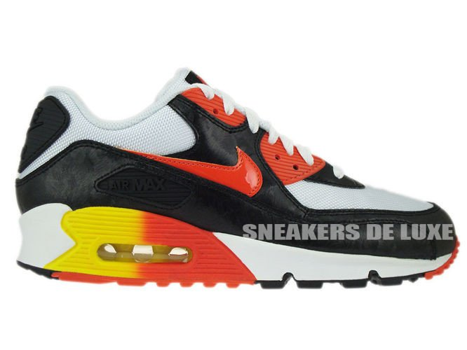 timeless design 43174 57d02 307793-180 Nike Air Max 90 White Black Orange-Yellow ...