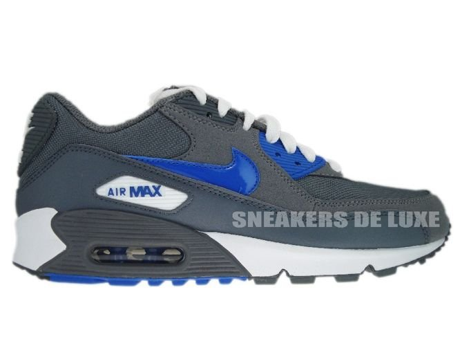 half off 03394 b2039 325213-007 Nike Air Max 90 Cool Grey/Varsity Royal 325213-007