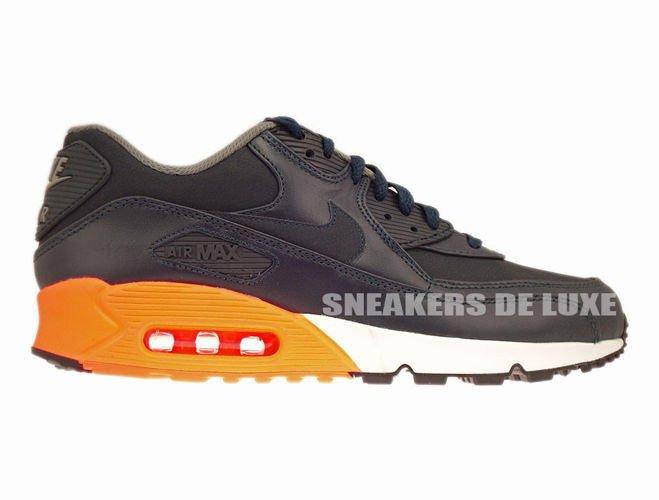 detailed look 9a75c 53126 333888-402 Nike Air Max 90 Premium Dark ObsidianDark ObsidianMedium Basic  ...