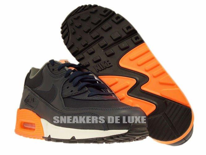 half off c2aeb b400e ... 333888-402 Nike Air Max 90 Premium Dark ObsidianDark ObsidianMedium  Basic ...
