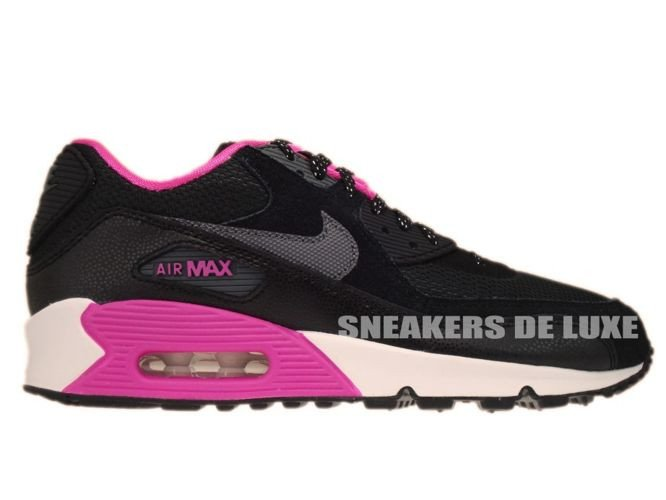 newest 59365 31d81 345017-017 Nike Air Max 90 Black Dark Grey-Pink Foil-White ...