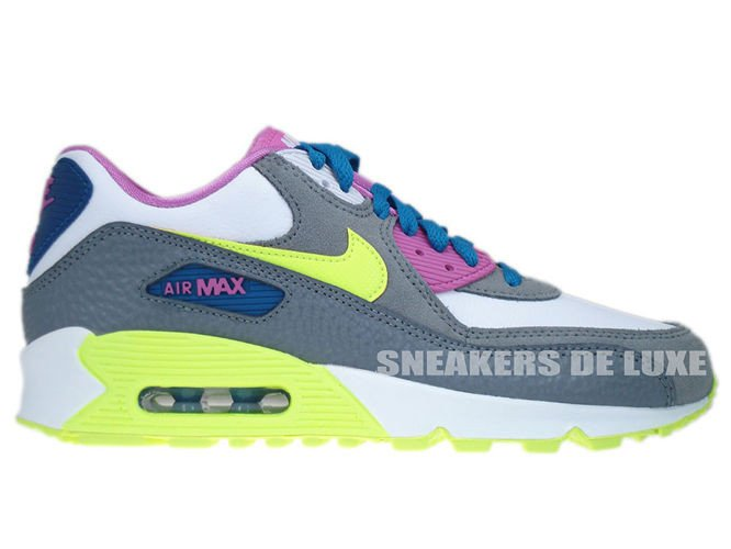 buy online 73f12 65635 345017-119 Nike Air Max 90 White Volt Ice-Green Abyss-Clear ...