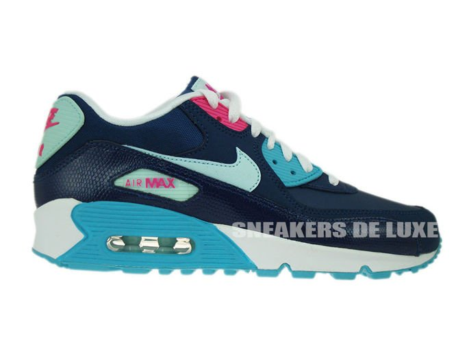 info for f53b3 9895a 345017-400 Nike Air Max 90 Brave Blue Teal Tint-Gamma Blue- ...