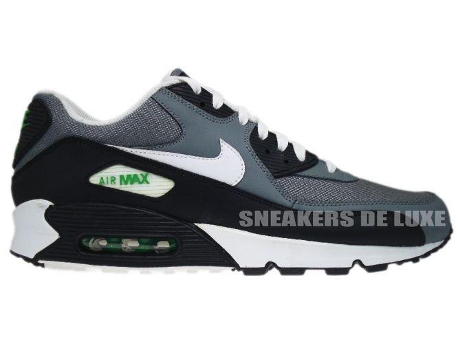 66cdfc7588f1e English  345188-012 Nike Air Max 90 Cool Grey White-Hyper Verde ...