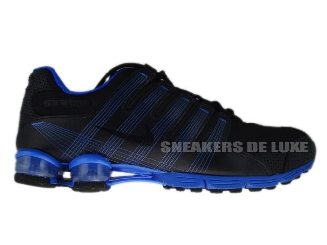 the latest 6cb2a 9995b 407155-004 Nike Shox NZ 2.0 Black/Black-Lyon Blue