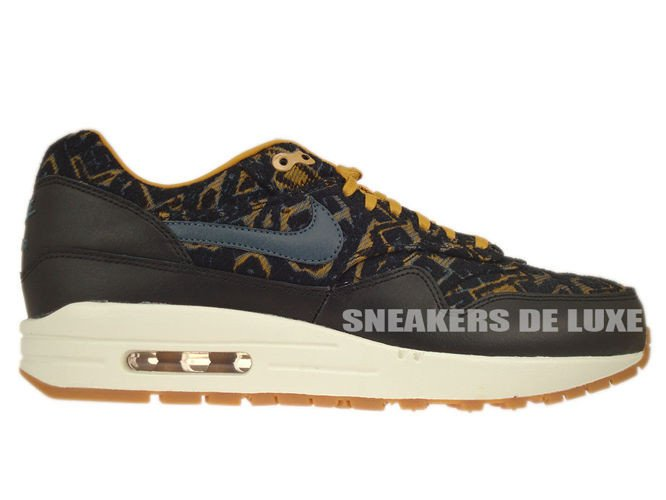 pas cher pour réduction 92694 d600f 454746-003 Nike Air Max 1 Premium Black/Dark Armory Blue ...