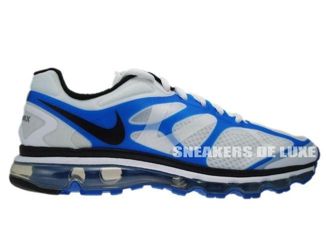size 40 a6014 e96c3 487982-104 Nike Air Max+ 2012 White Black-Blue Spark ...