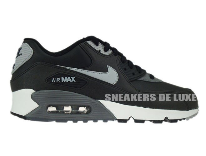 check out 9a2ed 0181c 537384-003 Nike Air Max 90 Essential Black Silver-Dark Grey-Black ...