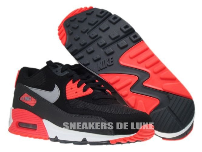 on sale b15ce d521d ... 537384-006 Nike Air Max 90 Essential Black Wolf Grey-Atomic Red- ...