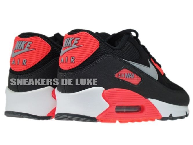 on sale 366ad d7297 ... 537384-006 Nike Air Max 90 Essential Black Wolf Grey-Atomic Red- ...