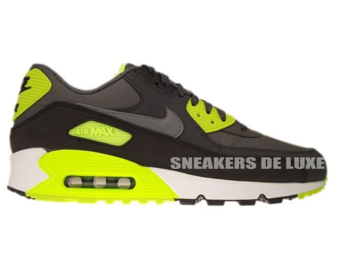 Mens Womens Shoes Nike Air Max 90 Essential Black Wolf Grey Atomic Red Anthracite 537384 006 537384 006