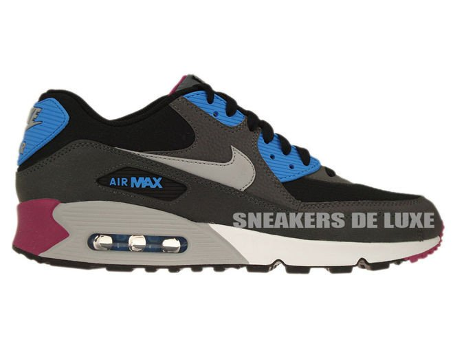 half off f979b 46ab0 537384-009 Nike Air Max 90 Essential Black/Wolf Grey-Anthracite-White ...