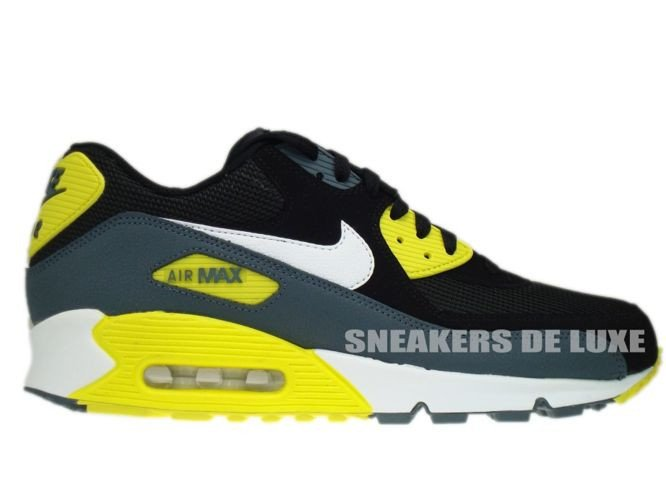 7e2e98a9904e 537384-017 Nike Air Max 90 Essential Black White-Sonic Yellow-Armory ...