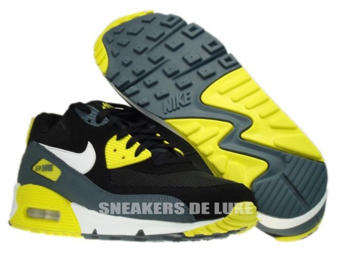 Air Max 90 Essential Black White Sonic Yellow Armory Slate