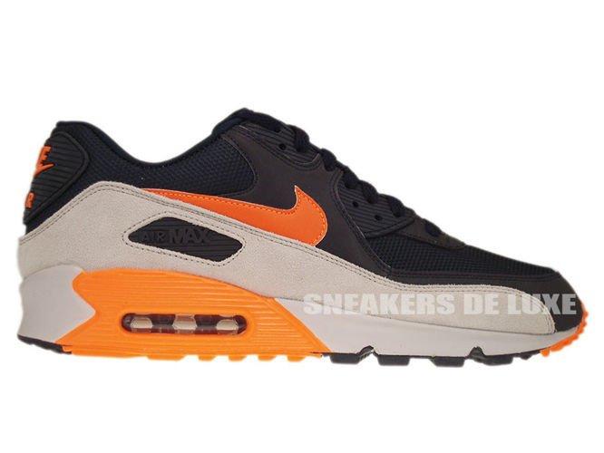 check out 380ac 68f21 542452-480 Nike Air Max 90 Premium Reflect Dark ObsidianTotal  Orange-Neutral ...