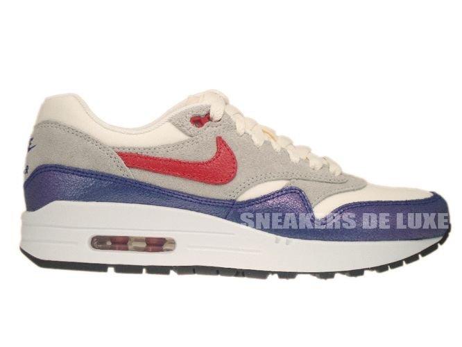 wholesale dealer eda0d aa82d 555284-100 Nike Air Max 1 Vintage Sail Hyper Red–Street Grey– ...