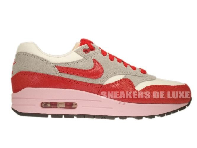 the best attitude 45297 f3c9b 555284-103 Nike Air Max 1 Vintage Sail Hyper Red-Street Grey- ...