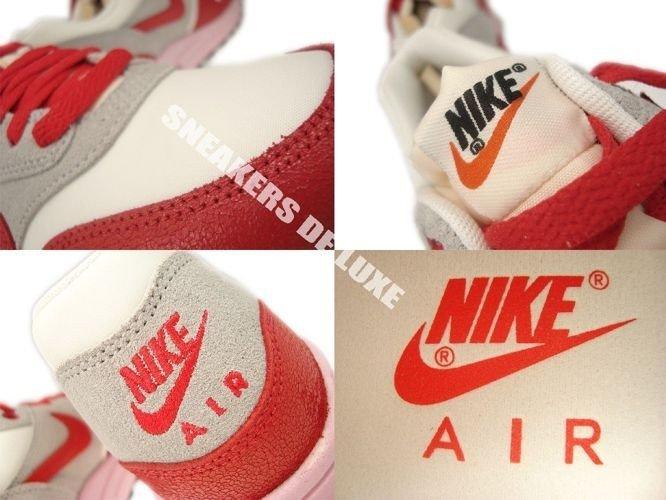 buy online e2071 0197d ... 555284-103 Nike Air Max 1 Vintage SailHyper Red-Street Grey-