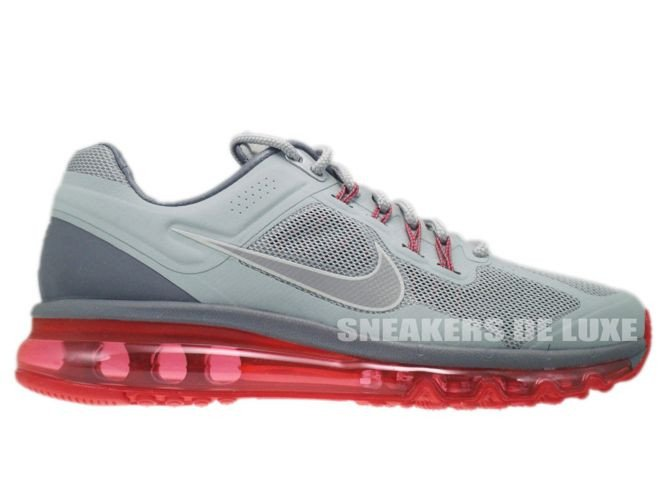 new product df47d 14270 555616-006 Nike Air Max+ 2013 EXT Metallic Silver Hyper Red Lightweight ...