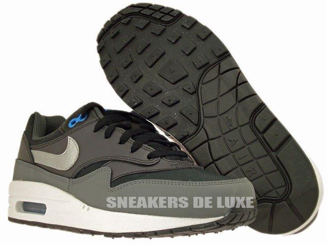555766 002 Nike Air Max 1 BlackMetallic Silver Photo Blue