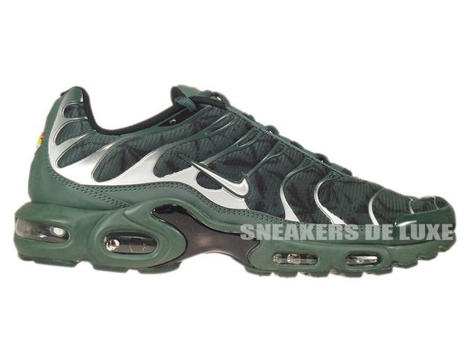 604133-303 Nike Air Max Plus TN 1 Black Bruse Metallic Silver Vintage ... 04a2c181f