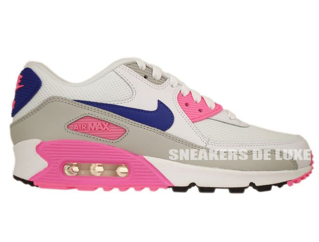 Nike WMNS Air Max 90 Essential White Concord Zen Grey Pink