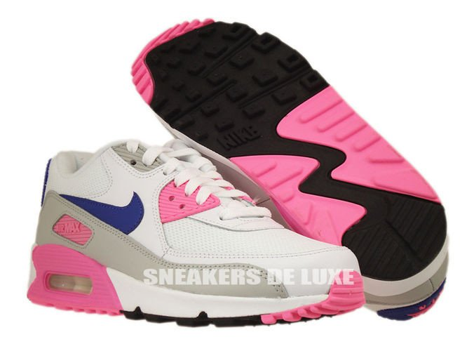 factory authentic 1cee1 92d31 ... 616730-104 Nike Air Max 90 Essential White/Concord-Zen Grey-Pink ...