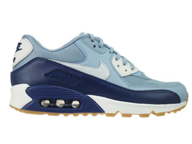 super popular 26225 0f1d2 616730-402 Nike Air Max 90 Grey/Pure Platinum-Loyal Blue ...