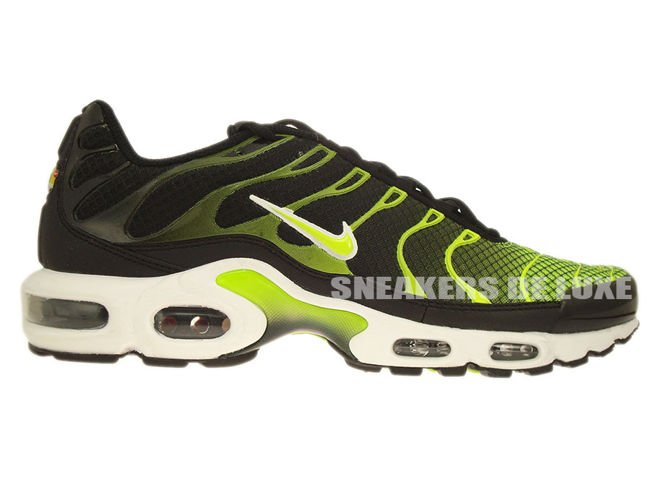 English  647315-071 Nike Air Max Plus TN 1 Black-White Volt Green ... 8b31590bf