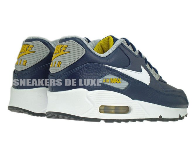 new styles 41078 5dd1f ... loden mens shoes e4c26 05c1c  netherlands 652980 400 nike air max 90  leather obsidian white wolf grey gold 93baa fedd8