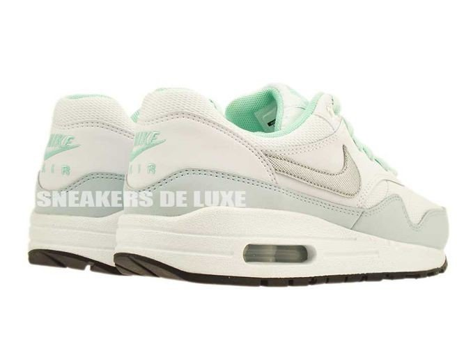 best service 27bbe 1a2cd ... 653653-105 Nike Air Max 1 White Metallic Silver-Anthracite-Medium Mint  ...
