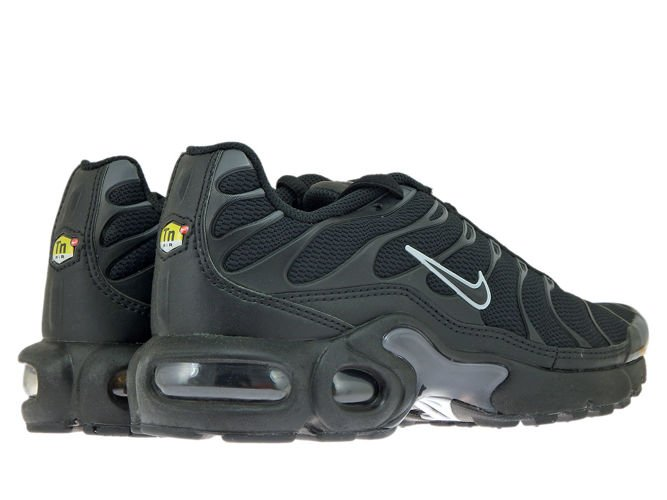 Lo siento mármol Desarmamiento  655020-053 Nike Air Max Plus TN 1 Black/Black-Pure Platinum