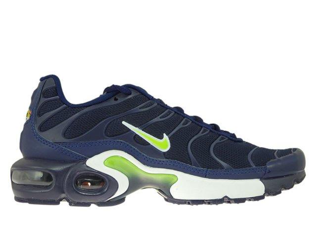 03cdd0f0e2 sneakers: 655020-421 Nike Air Max Plus TN 1 Midnight Navy/Volt-Blue ...