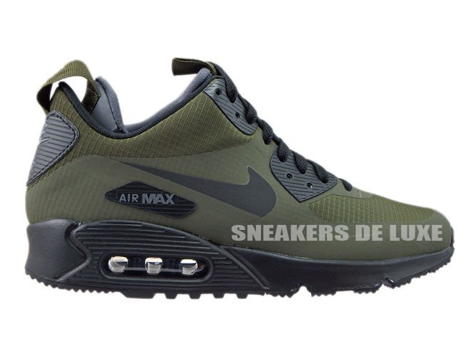 cheap for discount fbfb9 980c6 806808-300 Nike Air Max 90 Mid Winter Dark Loden Black-Dark Grey ...