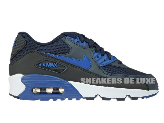 huge discount 329aa b2d69 sneakers: 833418-402 Nike Air Max 90 Dark Obsidian/Court Blue-Black ...