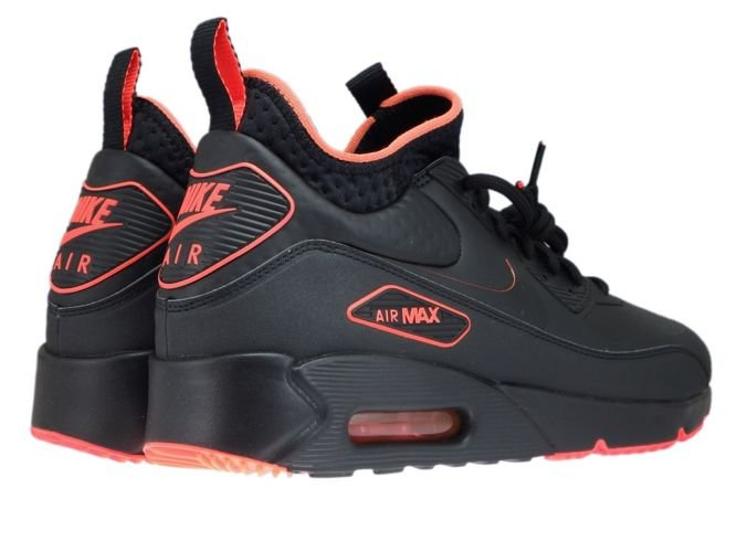 pretty nice 6637c d66ad AA4423-001 Nike Air Max 90 Mid Winter Black/Black-Total Crimson