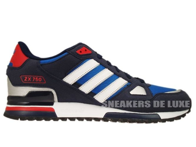 1e2e0028 Adidas Originals ZX 750 Pool Blue White Silver Red G61242 ...