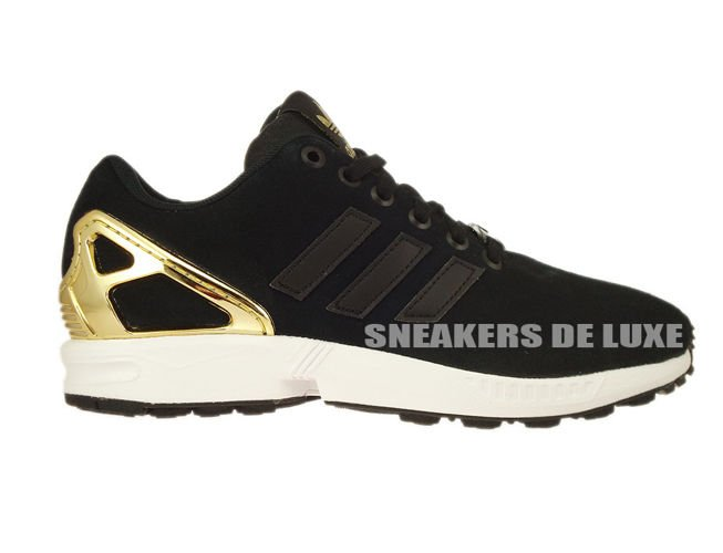 538b9bbeab8 English  B35319 adidas ZX Flux Core Black   Core Black   Gold Met ...