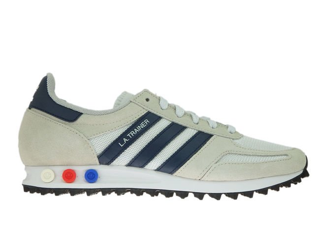 new arrivals d3819 b9ba7 B37829 adidas LA Trainer Crystal White Collegiate Navy Clear Brown ...