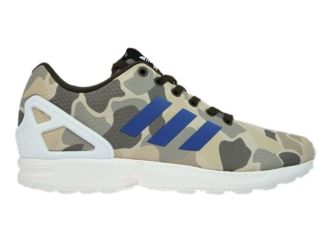 new style 295dd 56ae5 BB2174 adidas ZX Flux Camo Umber / Blue / White
