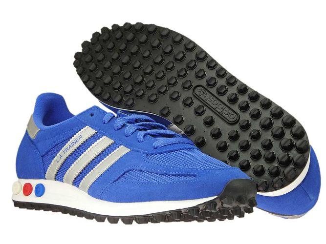 76fd268720e51 English  CQ2279 adidas LA Trainer Hi-Res Blue Metallic Silver CQ2279 ...