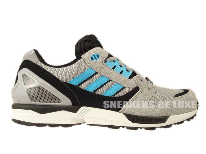 inglese: d65458 adidas originali zx 8000 alluminio / samba blu / bianco