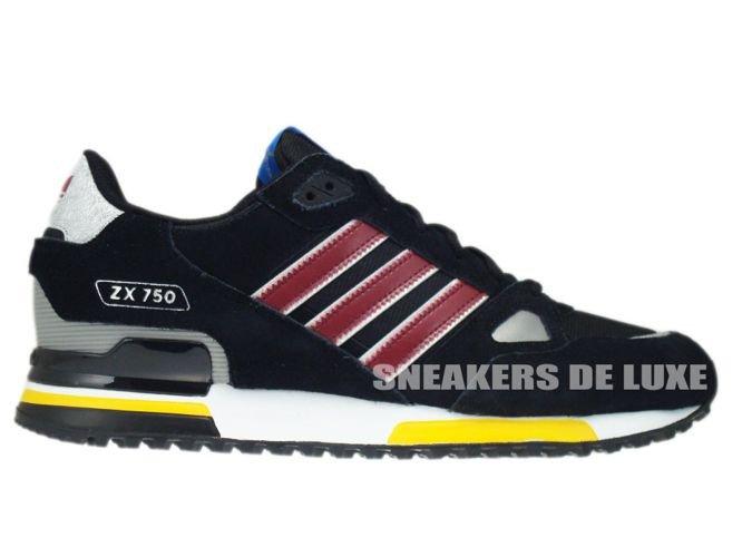 836fd0e4a sneakers  G96725 Adidas ZX 750 Originals Black Cardinal White G96725