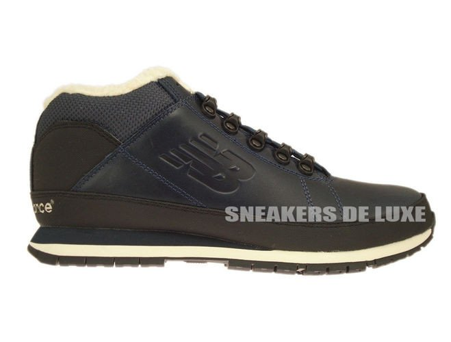 buy online 50ddf 7d3a0 H754LFN New Balance Navy Leather Fur