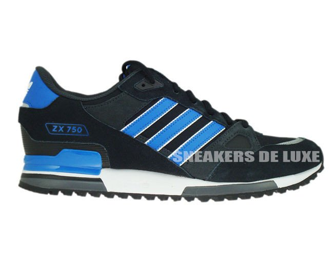 the latest 5cfa7 51fca M18261 Adidas ZX 750 Black  Bluebird  Running White ...