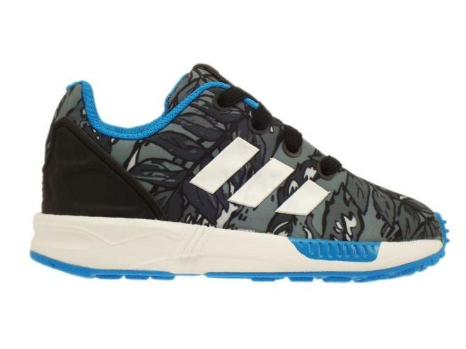 2ebb93217f95 ... italy m19402 adidas zx flux el infants core black running white solar  blue 9381a 5b4f3