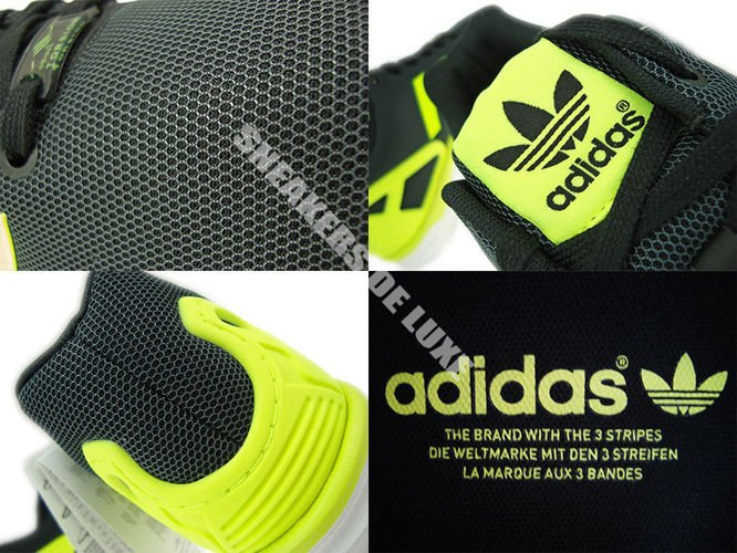 c73d694958a15 English  M21325 adidas ZX Flux Black   Electricity   Running White ...